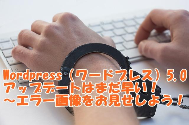 WordPress(ワードプレス)5.0アップデートはまだ早い!~エラー画像をお見せしよう!