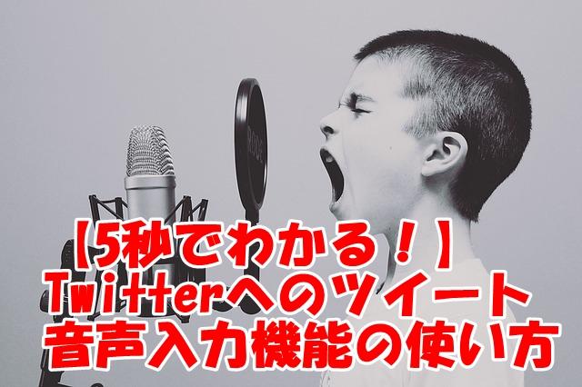 【5秒でわかる!】Twitterへのツイート音声入力機能の使い方